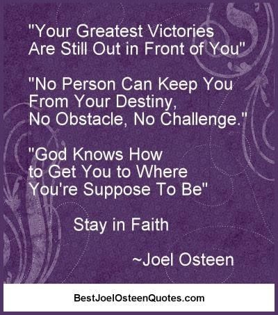 Joel Osteen Faith Message - Rebecca Alderman continues with more information...