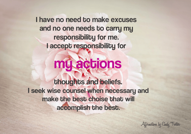 My Actions - Rebecca Alderman